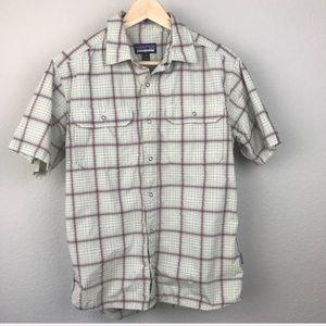 Patagonia Shirts - Patagonia Nylon Grid Plaid Snap Short Sleeve Shirt